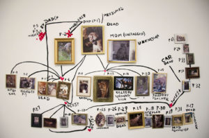 P-22's Family Tree Installation shot from Witnessing Place, video and mixed media